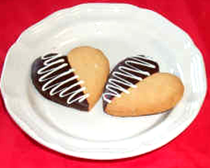 Chocolate Dipped Shortbread Cookies picture